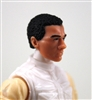 "Male Head: ""Vanguard"" Light Skin Tone with B;ack Hair - 1:18 Scale MTF Accessory for 3-3/4"" Action Figures"
