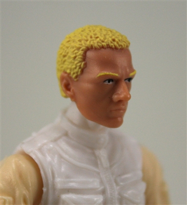 "Male Head: ""Vanguard"" Light Skin Tone with Blonde Hair - 1:18 Scale MTF Accessory for 3-3/4"" Action Figures"
