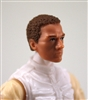 "Male Head: ""Vanguard"" Light Skin Tone with Brown Hair - 1:18 Scale MTF Accessory for 3-3/4"" Action Figures"