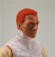 "Male Head: ""Vanguard"" Light Skin Tone with Red Hair - 1:18 Scale MTF Accessory for 3-3/4"" Action Figures"
