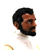 "Male Head: ""Ranger"" Tan Skin Tone with BLACK BEARD - 1:18 Scale MTF Accessory for 3-3/4"" Action Figures"