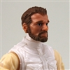 "Male Head: ""Ranger"" Light Skin Tone with BROWN BEARD - 1:18 Scale MTF Accessory for 3-3/4"" Action Figures"