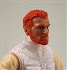 "Male Head: ""Ranger"" Light Skin Tone with RED BEARD - 1:18 Scale MTF Accessory for 3-3/4"" Action Figures"