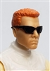"Male Head:  ""DUTCH"" Light Skin Tone with Sport Sunglasses & Red Hair - 1:18 Scale MTF Accessory for 3-3/4"" Action Figures"