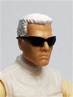 "Male Head:  ""DUTCH"" Light Skin Tone with Sport Sunglasses & White Hair - 1:18 Scale MTF Accessory for 3-3/4"" Action Figures"