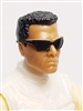 "Male Head:  ""DUTCH"" Tan Skin Tone with Sport Sunglasses & Black Hair - 1:18 Scale MTF Accessory for 3-3/4"" Action Figures"