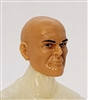 "Male Head: ""Brynner"" Light Skin Tone BALD Head - 1:18 Scale MTF Accessory for 3-3/4"" Action Figures"