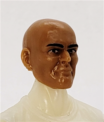 "Male Head: ""Brynner"" TAN Skin Tone BALD Head - 1:18 Scale MTF Accessory for 3-3/4"" Action Figures"