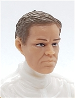 "Male Head: ""LOGAN"" Light Skin Tone with BROWN Hair - 1:18 Scale MTF Accessory for 3-3/4"" Action Figures"