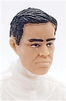 "Male Head: ""LOGAN"" Light Skin Tone with BLACK Hair - 1:18 Scale MTF Accessory for 3-3/4"" Action Figures"