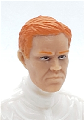 "Male Head: ""LOGAN"" Light Skin Tone with RED Hair - 1:18 Scale MTF Accessory for 3-3/4"" Action Figures"
