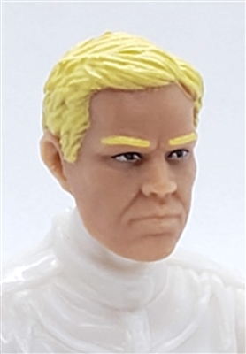 "Male Head: ""LOGAN"" Light Skin Tone with BLONDE Hair - 1:18 Scale MTF Accessory for 3-3/4"" Action Figures"
