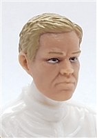"Male Head: ""LOGAN"" Light Skin Tone with LIGHT BROWN Hair - 1:18 Scale MTF Accessory for 3-3/4"" Action Figures"