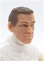 "Male Head: ""HANK"" Light Skin Tone with BROWN Hair - 1:18 Scale MTF Accessory for 3-3/4"" Action Figures"