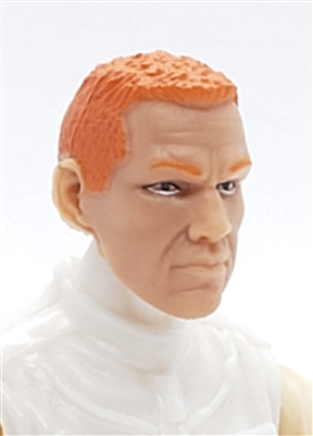 "Male Head: ""HANK"" Light Skin Tone with RED Hair - 1:18 Scale MTF Accessory for 3-3/4"" Action Figures"