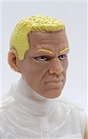 "Male Head: ""HANK"" Light Skin Tone with BLONDE Hair - 1:18 Scale MTF Accessory for 3-3/4"" Action Figures"