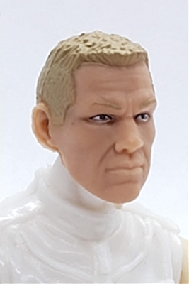 "Male Head: ""HANK"" Light Skin Tone with LIGHT BROWN Hair - 1:18 Scale MTF Accessory for 3-3/4"" Action Figures"