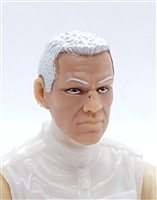 "Male Head: ""HANK"" Light Skin Tone with WHITE Hair - 1:18 Scale MTF Accessory for 3-3/4"" Action Figures"