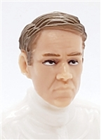 "Male Head: ""NIGEL"" Light Skin Tone with BROWN Hair - 1:18 Scale MTF Accessory for 3-3/4"" Action Figures"
