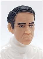 "Male Head: ""NIGEL"" Light Skin Tone with BLACK Hair - 1:18 Scale MTF Accessory for 3-3/4"" Action Figures"