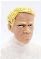 "Male Head: ""NIGEL"" Light Skin Tone with BLONDE Hair - 1:18 Scale MTF Accessory for 3-3/4"" Action Figures"