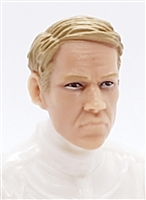 "Male Head: ""NIGEL"" Light Skin Tone with LIGHT BROWN Hair - 1:18 Scale MTF Accessory for 3-3/4"" Action Figures"