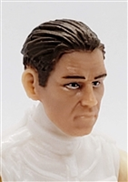"Male Head: ""IVAN"" Light Skin Tone with BROWN Hair - 1:18 Scale MTF Accessory for 3-3/4"" Action Figures"