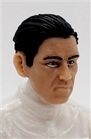 "Male Head: ""IVAN"" Light Skin Tone with BLACK Hair - 1:18 Scale MTF Accessory for 3-3/4"" Action Figures"