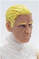 "Male Head: ""IVAN"" Light Skin Tone with BLONDE Hair - 1:18 Scale MTF Accessory for 3-3/4"" Action Figures"