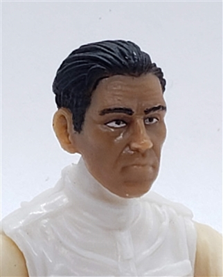 "Male Head: ""IVAN"" TAN Skin Tone with BLACK Hair - 1:18 Scale MTF Accessory for 3-3/4"" Action Figures"