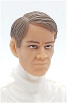 "Male Head: ""HANS"" Light Skin Tone with BROWN Hair - 1:18 Scale MTF Accessory for 3-3/4"" Action Figures"