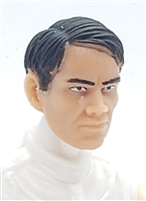 "Male Head: ""HANS"" Light Skin Tone with BLACK Hair - 1:18 Scale MTF Accessory for 3-3/4"" Action Figures"