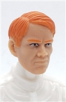 "Male Head: ""HANS"" Light Skin Tone with RED Hair - 1:18 Scale MTF Accessory for 3-3/4"" Action Figures"