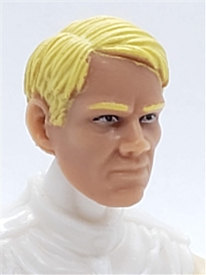 "Male Head: ""HANS"" Light Skin Tone with BLONDE Hair - 1:18 Scale MTF Accessory for 3-3/4"" Action Figures"