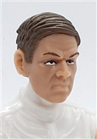 "Male Head: ""FRITZ"" Light Skin Tone with BROWN Hair - 1:18 Scale MTF Accessory for 3-3/4"" Action Figures"
