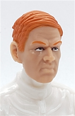 "Male Head: ""FRITZ"" Light Skin Tone with RED Hair - 1:18 Scale MTF Accessory for 3-3/4"" Action Figures"