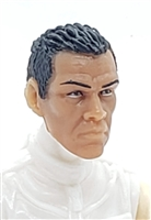 "Male Head: ""IRA"" Tan Skin Tone (Native American Indian) with Black Hair - 1:18 Scale MTF Accessory for 3-3/4"" Action Figures"