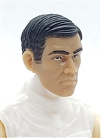 "Male Head: ""LEE"" LIGHT TAN Skin Tone (ASIAN) with Black Hair - 1:18 Scale MTF Accessory for 3-3/4"" Action Figures"