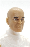 "Male Head: ""Brynner"" LIGHT TAN Skin Tone (ASIAN) BALD Head - 1:18 Scale MTF Accessory for 3-3/4"" Action Figures"