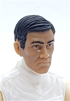 "Male Head: ""LEE"" TAN Skin Tone with Black Hair - 1:18 Scale MTF Accessory for 3-3/4"" Action Figures"