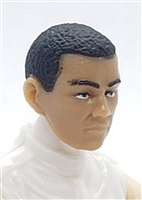 "Male Head: ""HIRO"" LIGHT TAN Skin Tone (ASIAN) with Black Hair - 1:18 Scale MTF Accessory for 3-3/4"" Action Figures"