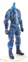 "MTF Male Trooper Body WITHOUT Head BLUE CAMO ""Chimera-Ops"" Armor Leg Version BASIC - 1:18 Scale Marauder Task Force Action Figure"