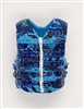 "Male Vest: Tactical Type BLUE CAMO Version - 1:18 Scale Modular MTF Accessory for 3-3/4"" Action Figures"