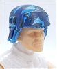"Headgear: Armor Helmet BLUE CAMO Version - 1:18 Scale Modular MTF Accessory for 3-3/4"" Action Figures"