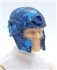 "Headgear: Tactical Helmet BLUE CAMO Version - 1:18 Scale Modular MTF Accessory for 3-3/4"" Action Figures"