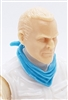 "Headgear: Standard Neck Scarf LIGHT BLUE Version - 1:18 Scale Modular MTF Accessory for 3-3/4"" Action Figures"