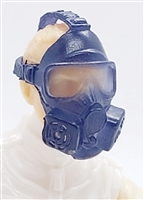 "Headgear: Gasmask ALL BLUE Version - 1:18 Scale Modular MTF Accessory for 3-3/4"" Action Figures"