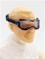 "Headgear: Standard Goggles with Strap ALL BLUE Version - 1:18 Scale Modular MTF Accessory for 3-3/4"" Action Figures"