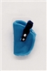 "Pistol Holster: Small Left Handed LIGHT BLUE with BLUE Version - 1:18 Scale Modular MTF Accessory for 3-3/4"" Action Figures"