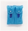 "Ammo Pouch: Double Magazine LIGHT BLUE with BLUE Version - 1:18 Scale Modular MTF Accessory for 3-3/4"" Action Figures"